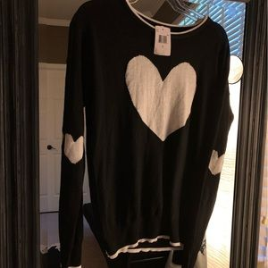 NWT Poof Nordstrom Heart Sweater